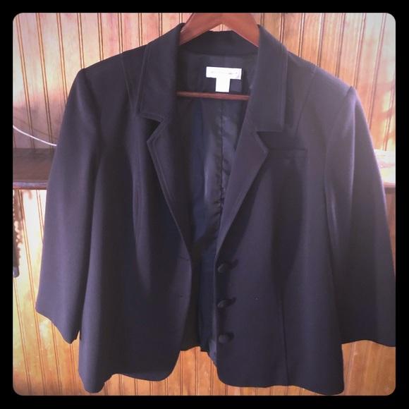 Christopher & Banks Jackets & Blazers - Black Christopher & Banks blazer with zipper back